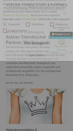 Vorschau der mobilen Webseite www.atelier-steinbuechel.de, Atelier Steinbüchel & Partner