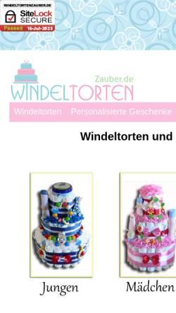 Vorschau der mobilen Webseite www.windeltortenzauber.de, WindeltortenZauber