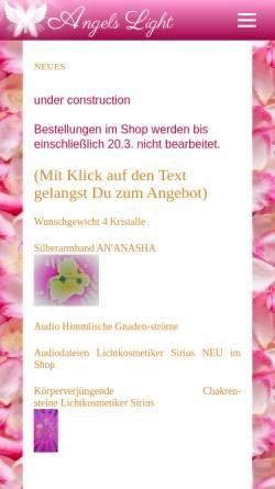 Vorschau der mobilen Webseite angelslight.de, Omar'Ta'Satt
