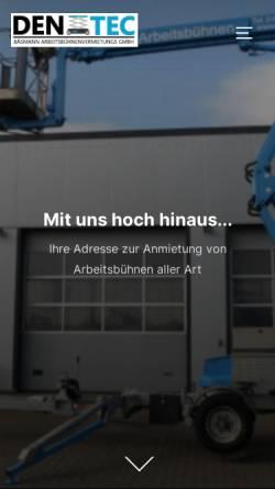Vorschau der mobilen Webseite www.denitec.de, Denitec Fahrzeug- und Maschinenhandel - Huibrecht Grootenboer e.K.