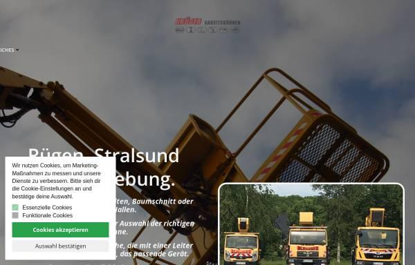 Vorschau von www.krueger-arbeitsbuehnen.de, Krüger International Trading GmbH
