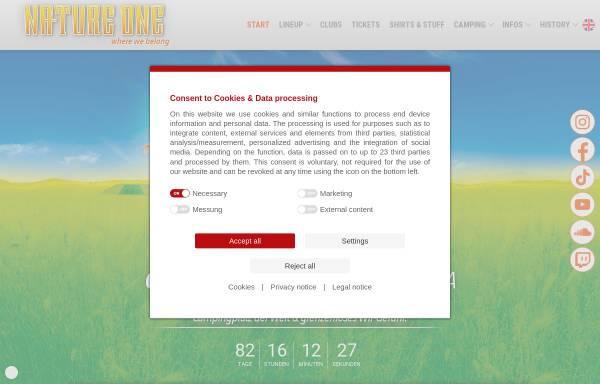 Vorschau von www.nature-one.de, Nature One, Mayday, Ruhr in Love, Electric City, Winter World