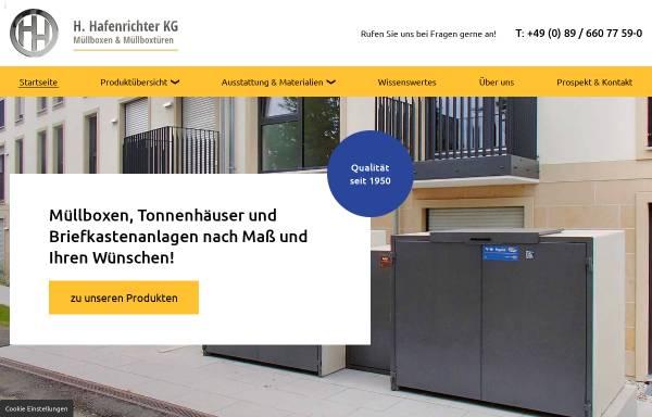 Vorschau von www.muellboxen-beton.de, H. Hafenrichter KG, Die Mülltonne gehört in den Müllschrank!