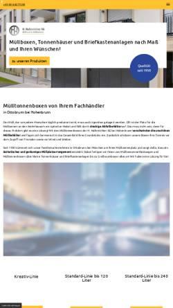 Vorschau der mobilen Webseite www.muellboxen-beton.de, H. Hafenrichter KG, Die Mülltonne gehört in den Müllschrank!