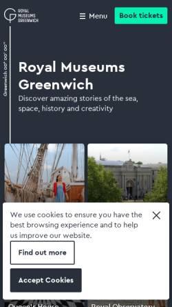 Vorschau der mobilen Webseite www.rmg.co.uk, National Maritime Museum