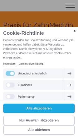 Vorschau der mobilen Webseite www.zahnarzt-wiesbaden.net, Pröbster, L. Prof. Dr. und B. Dr.