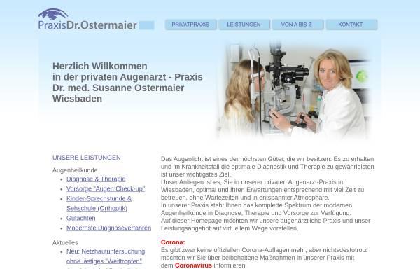 Vorschau von www.augenarzt-ostermaier.de, Ostermaier, Dr. med. Susanne