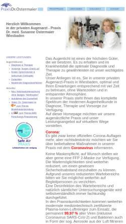 Vorschau der mobilen Webseite www.augenarzt-ostermaier.de, Ostermaier, Dr. med. Susanne