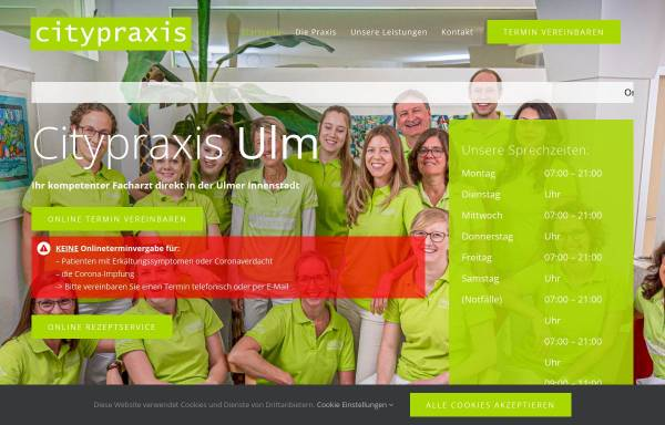 Vorschau von www.citypraxis.de, Citypraxis Helmes und Könneke