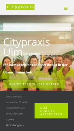 Vorschau der mobilen Webseite www.citypraxis.de, Citypraxis Helmes und Könneke