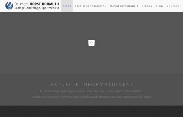 Vorschau von www.drhohmuth-urologe.de, Hohmuth, Horst, Dr. med.