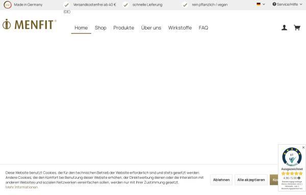 Vorschau von www.menfit.de, Menfit® Heilkunde GmbH