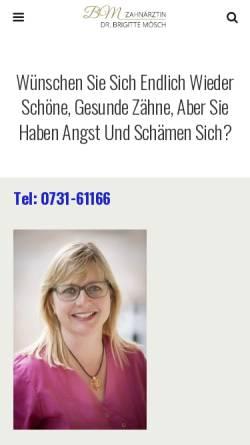 Vorschau der mobilen Webseite www.dr-moesch.de, Mösch, Dr. Eberhard und Dr. Brigitte