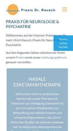 Vorschau der mobilen Webseite www.dr-rausch-ulm.de, Rausch, Ulrich, Dr. med.