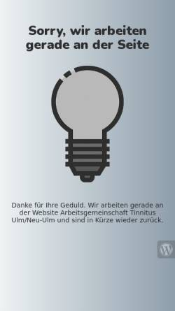 Vorschau der mobilen Webseite www.tinnitus-centrum-ulm.de, Tinnitus-Therapie-Centrum