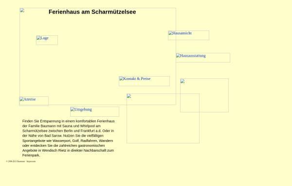 Vorschau von www.ferienhaus-scharmuetzelsee.de, Ferienhaus am Scharmuetzelsee