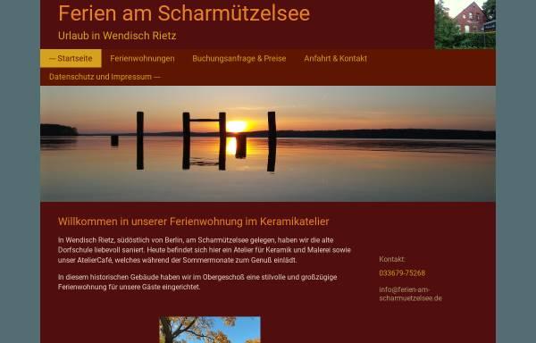 Vorschau von ferien-am-scharmuetzelsee.de, Ferienwohnung im Keramikatelier