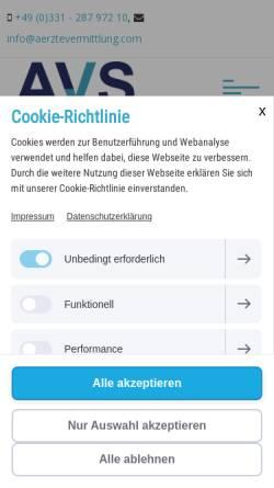 Vorschau der mobilen Webseite www.aerztevermittlung.com, Ärztevermittlung