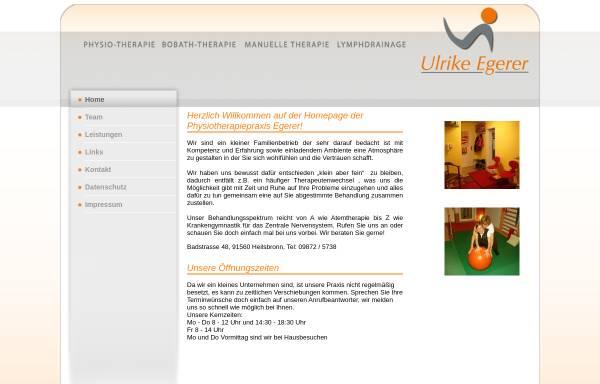 Vorschau von www.physiotherapie-egerer.de, Physiotherapie Ulrike Egerer, Heilsbronn