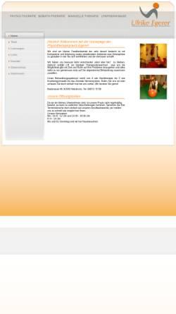 Vorschau der mobilen Webseite www.physiotherapie-egerer.de, Physiotherapie Ulrike Egerer, Heilsbronn
