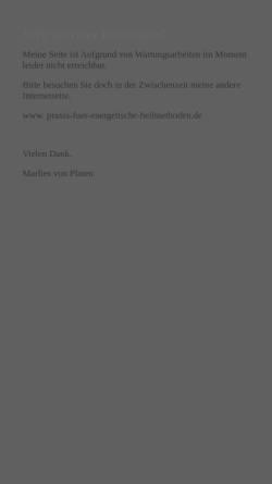 Vorschau der mobilen Webseite www.praxis-fuer-geistigesheilen.de, Marlies von Platen