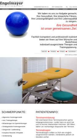 Vorschau der mobilen Webseite physiotherapie-engelmayer.de, Physiotherapie Engelmayer