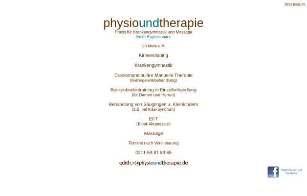Vorschau von www.physioundtherapie.de, Physioundtherapie