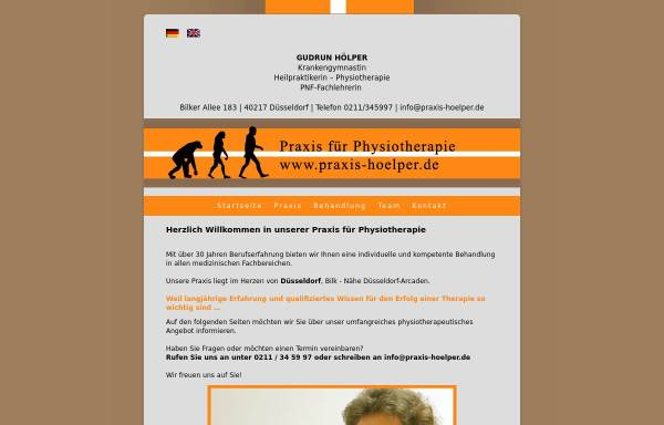 Vorschau von www.praxis-hoelper.de, Praxis für Krankengymnastik Gudrun Hölper