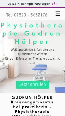Vorschau der mobilen Webseite www.praxis-hoelper.de, Praxis für Krankengymnastik Gudrun Hölper