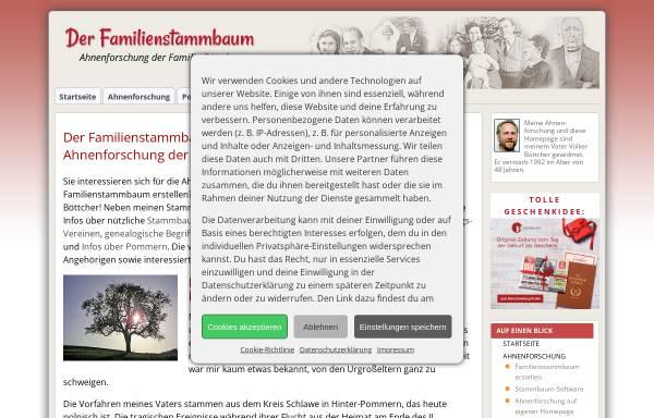 Vorschau von www.der-familienstammbaum.de, Böttcher