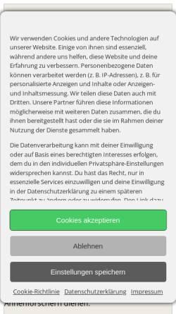 Vorschau der mobilen Webseite www.der-familienstammbaum.de, Böttcher