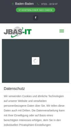 Vorschau der mobilen Webseite www.jbas-it.de, JBAS-IT Jürgen Baßler