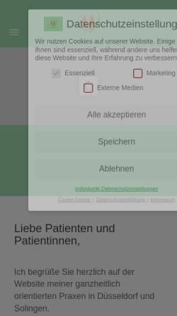 Vorschau der mobilen Webseite www.dr-drees.de, Drees, Dr. Angela