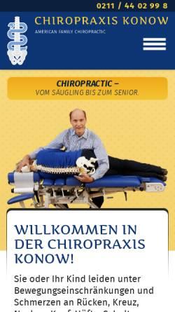 Vorschau der mobilen Webseite www.chiropraktiker-duesseldorf.de, Thorsten Konow, Heil- und Chiropraktiker