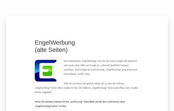 Vorschau von www.engelwerbung.de, Engel Werbung, Manfred Engel