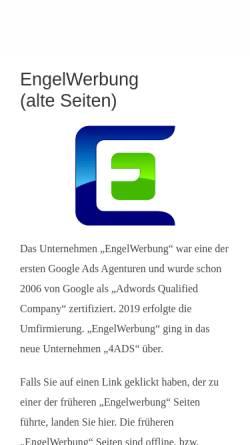 Vorschau der mobilen Webseite www.engelwerbung.de, Engel Werbung, Manfred Engel