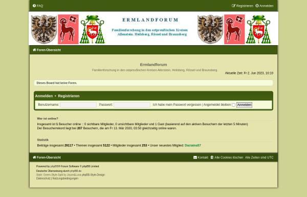Vorschau von www.ermland-forum.de, Ermland-Forum