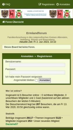 Vorschau der mobilen Webseite www.ermland-forum.de, Ermland-Forum