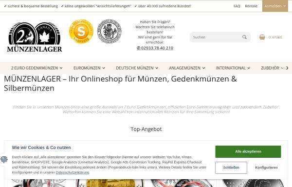 Vorschau von www.muenzenlager.de, Münzenlager, Daniele Guido