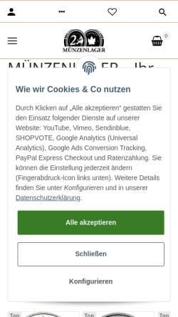 Vorschau der mobilen Webseite www.muenzenlager.de, Münzenlager, Daniele Guido