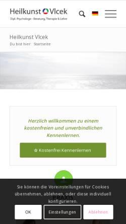 Vorschau der mobilen Webseite www.heilarbeit.de, Heilpraxis Vlcek