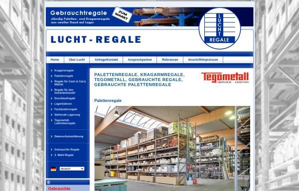 Vorschau von www.lucht-regale.de, Lucht Regale GmbH