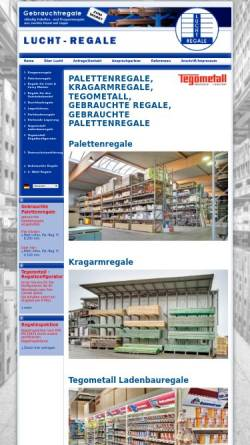 Vorschau der mobilen Webseite www.lucht-regale.de, Lucht Regale GmbH