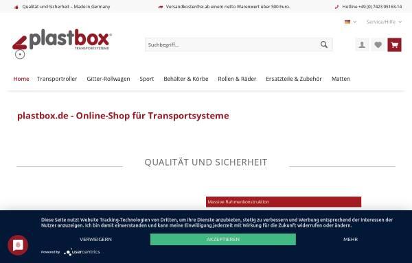 Vorschau von www.plastbox.com, Plastbox Transportroller GmbH