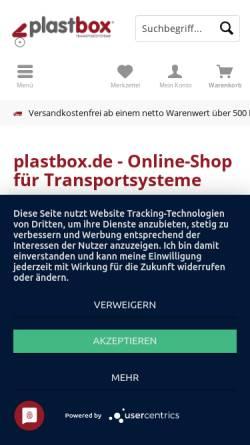 Vorschau der mobilen Webseite www.plastbox.com, Plastbox Transportroller GmbH