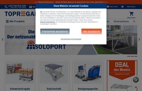 Vorschau von www.topregal.com, Topregal GmbH