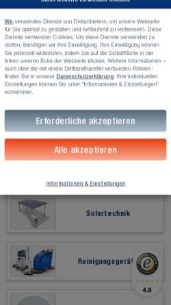 Vorschau der mobilen Webseite www.topregal.com, Topregal GmbH
