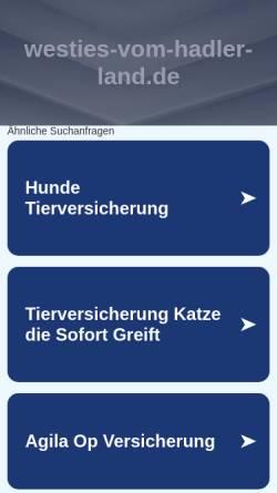 Vorschau der mobilen Webseite www.westies-vom-hadler-land.de, Vom Hadler Land