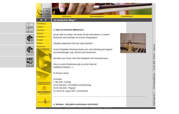 Vorschau von www.allegromusikschule.de, Musikschule