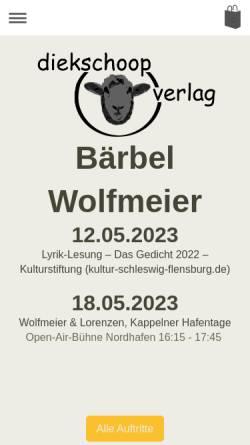 Vorschau der mobilen Webseite www.baerbelwolfmeier.de, Wolfmeier, Bärbel